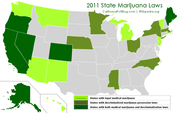 PAC 12: leads NCAA in legal medical states (map ... Legal Medical States Map on